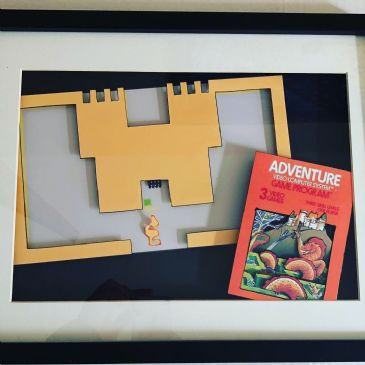 Atari Adventure 3D Art Diorama